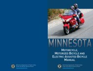 Minnesota Motorcycle Manual - the Center for Business and Industry