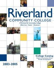 2004-2005 - Riverland Community College