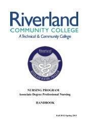 ADN Student Handbook - Riverland Community College