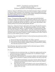 Notification Procedures Concerning Registered Sex Offender