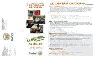 LEADERSHIP OWATONNA - Riverland Community College