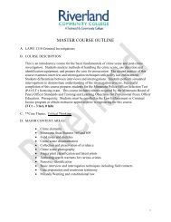 Course Outline LAWE1110 - Riverland Community College