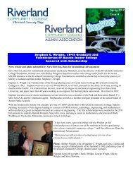 Issue 4, Spring 2012 - Riverland Community College