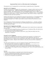Operational Policy for the Use of Riverland Audio