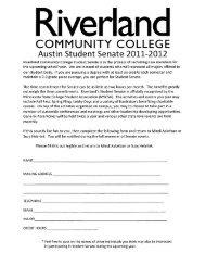 Join Student Senate! - Riverland Community College
