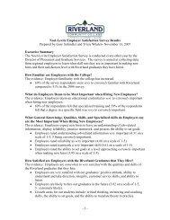 Noel-Levitz Employer Satisfaction Survey Results Prepared by Gary ...