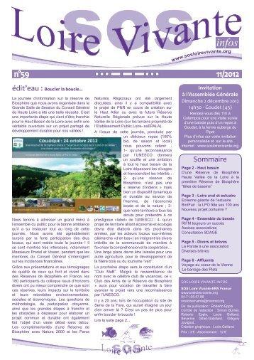 Bulletin n°59 SOS LV Infos - RiverNet