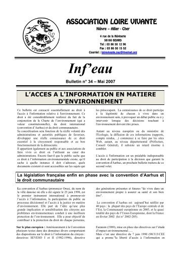 infeau N°34 Mai 2007, format pdf 80 KB - RiverNet