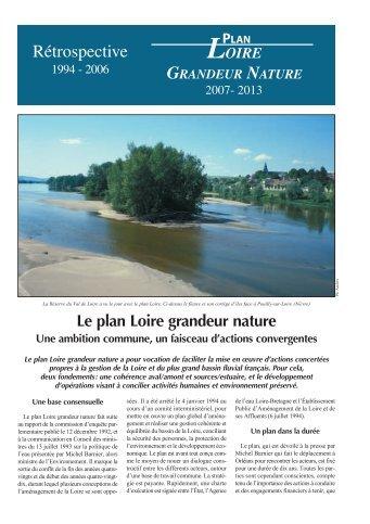 Le plan Loire grandeur nature - RiverNet