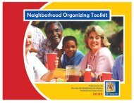 Neighborhood Organizing Toolkit - City Home