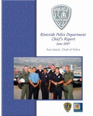 Riverside Police Department Chief's Report - City of Riverside