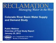 Colorado River Basin Water Supply and Demand Study - Bureau of ...
