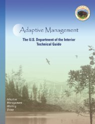 DOI Adaptive Management Technical Guide - National Training ...