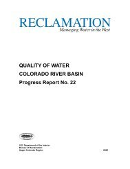 QUALITY OF WATER COLORADO RIVER BASIN Progress Report ...