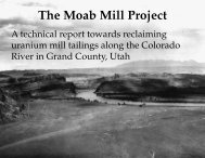 The Moab Mill Project - Living Rivers