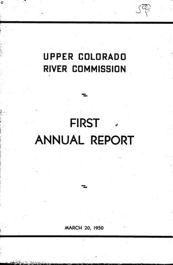 First Annual Report - Living Rivers Home Page