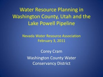 LPP presentation to Nevada - Living Rivers Home Page