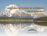 Assessing the Future of Wyoming's Water Resources: Adding ...