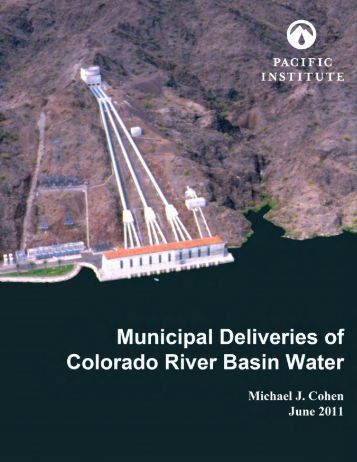 Municipal Deliveries of Colorado River Basin Water - Living Rivers ...