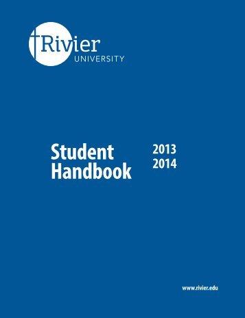Student Handbook - Rivier University