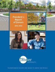 President's Report of Donors 2011-2012 { - Rivier University