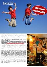 Děti zdarma - Riviera Tour