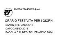 2013 Orario Speciale Festività 1° Maggio x Biglietteria - Riviera ...
