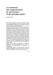 analisi dal punto di vista di Jung e di altri psicologi analisti