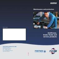 Antifreeze, brake fluids and service products