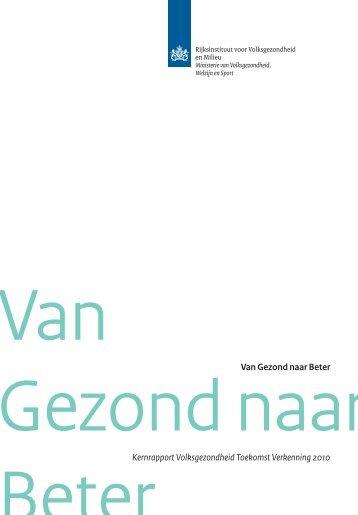 RIVM rapport 270061005 Van Gezond naar beter