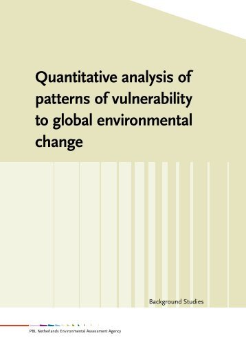 Quantitative analysis of patterns of vulnerability to global ... - Rivm
