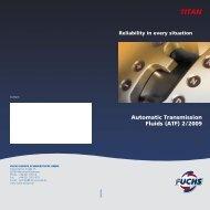 Automatic Transmission Fluids (ATF) 2 / 2009 - AS Rivor