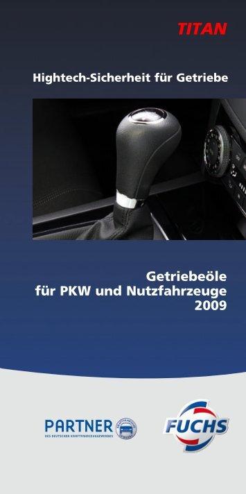 Getriebeöle für PKW und Nutzfahrzeuge 2009 - AS Rivor