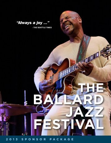 """Always a joy ..."" - The Ballard Jazz Festival"