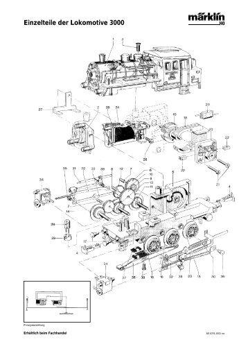 Einzelteile der Lokomotive 3000 - NSE Software