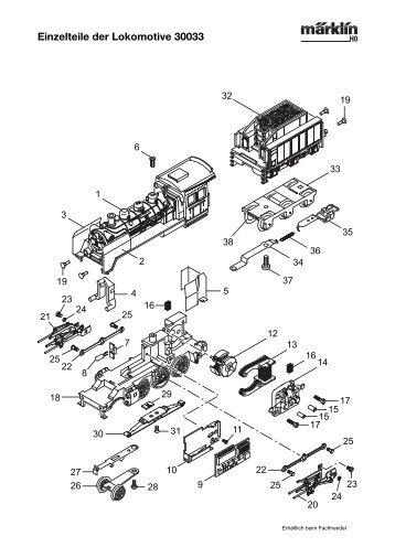 Einzelteile der Lokomotive 30033 - NSE Software