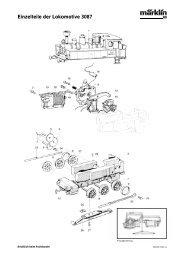 Einzelteile der Lokomotive 3087 - NSE Software