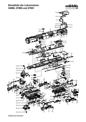 Einzelteile der Lokomotiven 34990, 37990 und 37991 - NSE Software