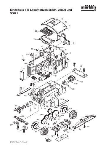 Einzelteile der Lokomotiven 26524, 36820 und 36821 - NSE Software
