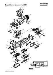 Einzelteile der Lokomotive 26510 - NSE Software