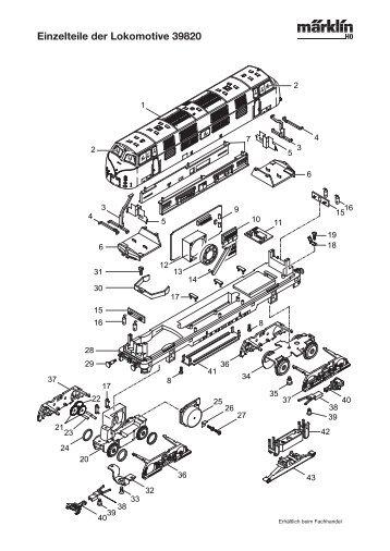 Einzelteile der Lokomotive 39820 - NSE Software