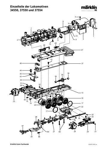 Einzelteile der Lokomotiven 34550, 37550 und 37554 - NSE Software