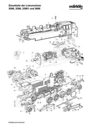 Einzelteile der Lokomotiven 3096, 3396, 33961 und ... - NSE Software
