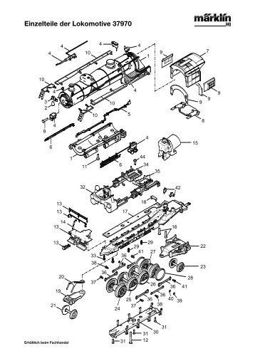 Einzelteile der Lokomotive 37970 - NSE Software