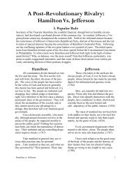 Hamilton Vs. Jefferson - Racine Public Library