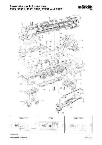 Einzelteile der Lokomotiven 3395, 33951, 3397 ... - NSE Software
