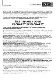 ärztin/arzt oder fachärztin/facharzt - LVR-Klinikum Essen ...