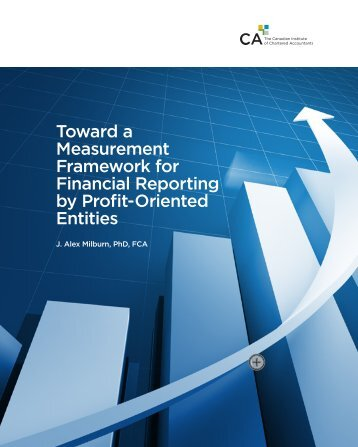 Toward a Measurement Framework for Financial Reporting by Profit ...