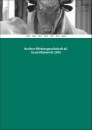 Berliner Effektengesellschaft AG Geschäftsbericht 2003