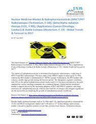 JSB Market Research: Nuclear Medicine Market and Radiopharmaceuticals - Global Trends & Forecast to 2017